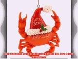 Crab Christmas Ornament Wearing a Santa Hat Here Comes Santa Claws