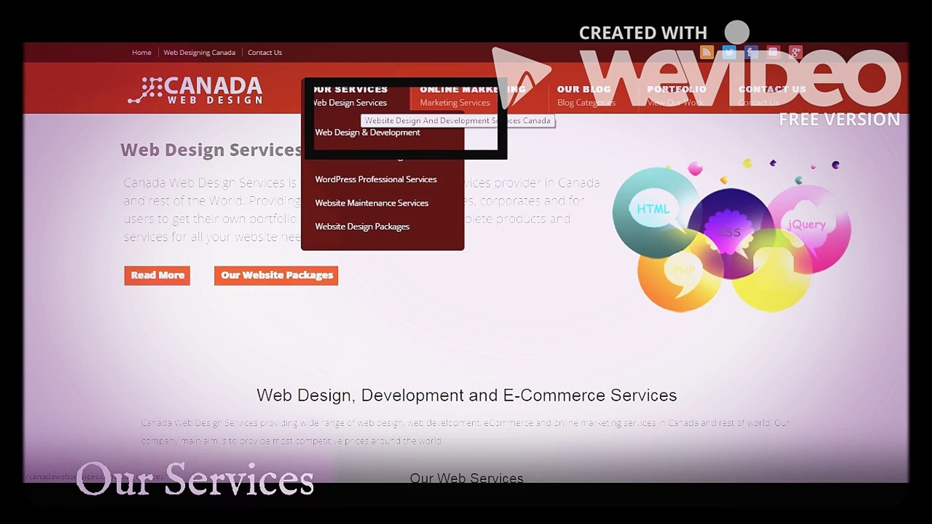Canada Web Services Video Dailymotion