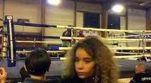 Fiorenzo Bacqueville (Muay Thai Vendinois) Vs Giovanni Palmas (KTB Rosult) championnat regional Muay Thai FFKMDA Waziers Nov 2016