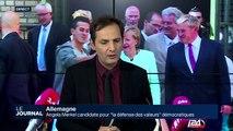 """Angela Merkel candidate pour """"la défense des valeurs"""" démocratiques"""