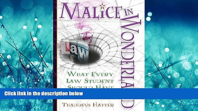 READ THE NEW BOOK  Malice in Wonderland: What Every Law Student Should Have for the Trip BOOK