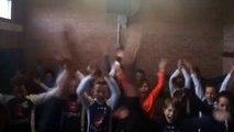 Clapping de nos U11 après leur victoire ce week end