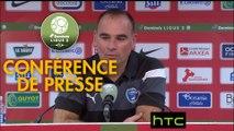 Conférence de presse Stade Brestois 29 - Chamois Niortais (2-3) : Jean-Marc FURLAN (BREST) - Denis RENAUD (CNFC) - 2016/2017