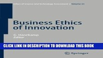 [READ] Ebook Business Ethics of Innovation (Ethics of Science and Technology Assessment) Audiobook