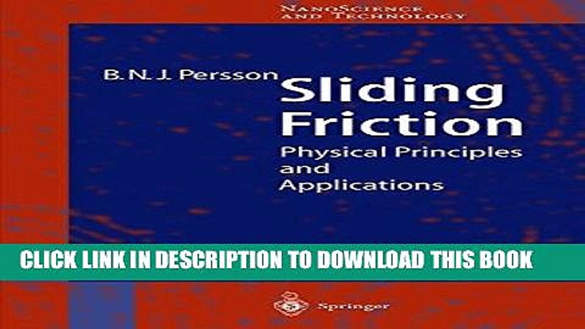 Physical Principles and Applications Sliding Friction