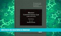 Must Have PDF Modern Constitutional Law, Cases and Notes