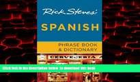 Read books  Rick Steves  Spanish Phrase Book   Dictionary BOOOK ONLINE