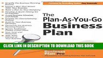 [READ PDF] EPUB The Plan-As-You-Go Business Plan Full Online