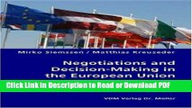 PDF Negotiations and Decision-Making in the European Union - Teaching and Learning through