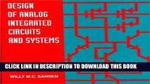 Download Design Of Analog Integrated Circuits And Systems Pdf Online Video Dailymotion