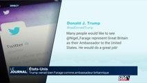 Donald Trump verrait bien Nigel Farage comme ambassadeur du Royaume-Uni aux Etats-Unis