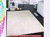 Teppich Einfarbig Designerteppich mit Handgearbeiteten Konturen Creme Elfenbein Grösse:200x290