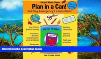 Buy NOW  Plan in a Can! 4th   5th Grades: Full Day Emergency Lesson Plans: Fall   Winter Theme