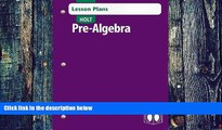 BEST PDF Holt Pre-Algebra: Lesson Plans RINEHART AND WINSTON