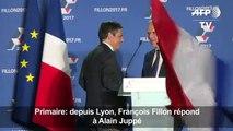 Depuis Lyon, François Fillon répond à Alain Juppé