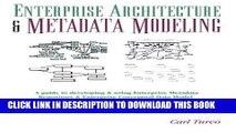 [READ] Online Enterprise Architecture   Metadata Modeling: A Guide to Conceptual Data Model,