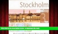 liberty books  Stockholm PopOut Map: pop-up city street map of Stockholm city center - folded