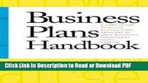 PDF Business Plans Handbook: A Compilation of Actual Business Plans Developed By Small Businesses