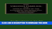 Best Seller Some Virginia Families: Being Genealogies of the Kinney, Stribling, Trout, McIlhany,