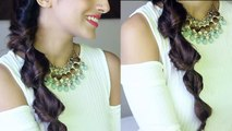 2 Subtle Twist Side Braid Hairstyle For Medium / Long Hair Using Hair Extensions - Indian Hairstyles