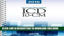 Ebook ICD-10-CM 2016: The Complete Official Draft Code Set (Icd-10-Cm the Complete Official