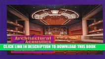 [PDF] Download Architectural Acoustics: Principles and Design Full Epub