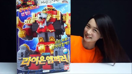 파워레인저 닌자포스 라이온엠퍼러 닌자킹 바이슨킹 합체 장난감 Power rangers Super sentai Toys