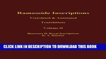 Ebook Ramesside Inscriptions, Ramesses II, Royal Inscriptions: Translated and Annotated,