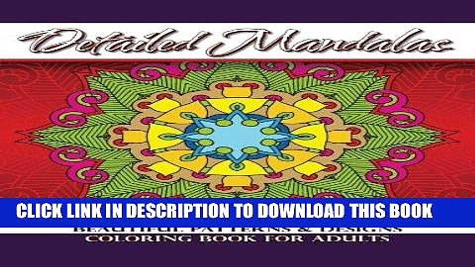 Ebook Detailed Mandalas Beautiful Patterns   Designs Coloring Book For Adults (Beautiful