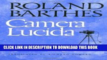 Best Seller Camera Lucida: Reflections on Photography Free Read