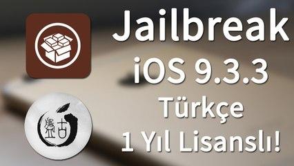 iOS 9.3.3 Nasıl Jailbreak Yapılır? [Güncel] [Resmi Yöntem] 1 Yıl Sertifikalı!