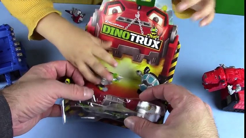 Dino Trucks Toys! DinoTrux Revvit Tortool UNBOXING Play