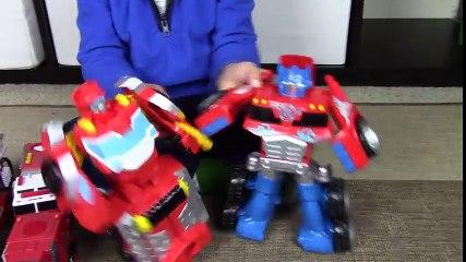 Fire Trucks for Kids  Transformers Rescue Bots Toy UNBOXING  Elite Rescue Heatwave
