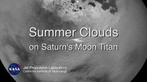 NASA recorded moving summer Clouds on Saturn's Moon Titan