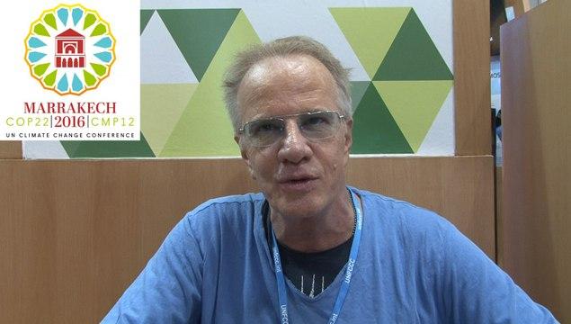 Christophe Lambert militant de l'économie circulaire à la COP22 à Marrackech