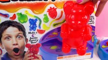 GIANT RAINBOW GUMMI BEAR Gummy Factory Create Gummi Bears Sweet N Sour Candy Kit Unboxing Video