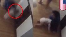 Anak laki-laki menyelamatkan adik bayi yang terjatuh dari meja - Tomonews