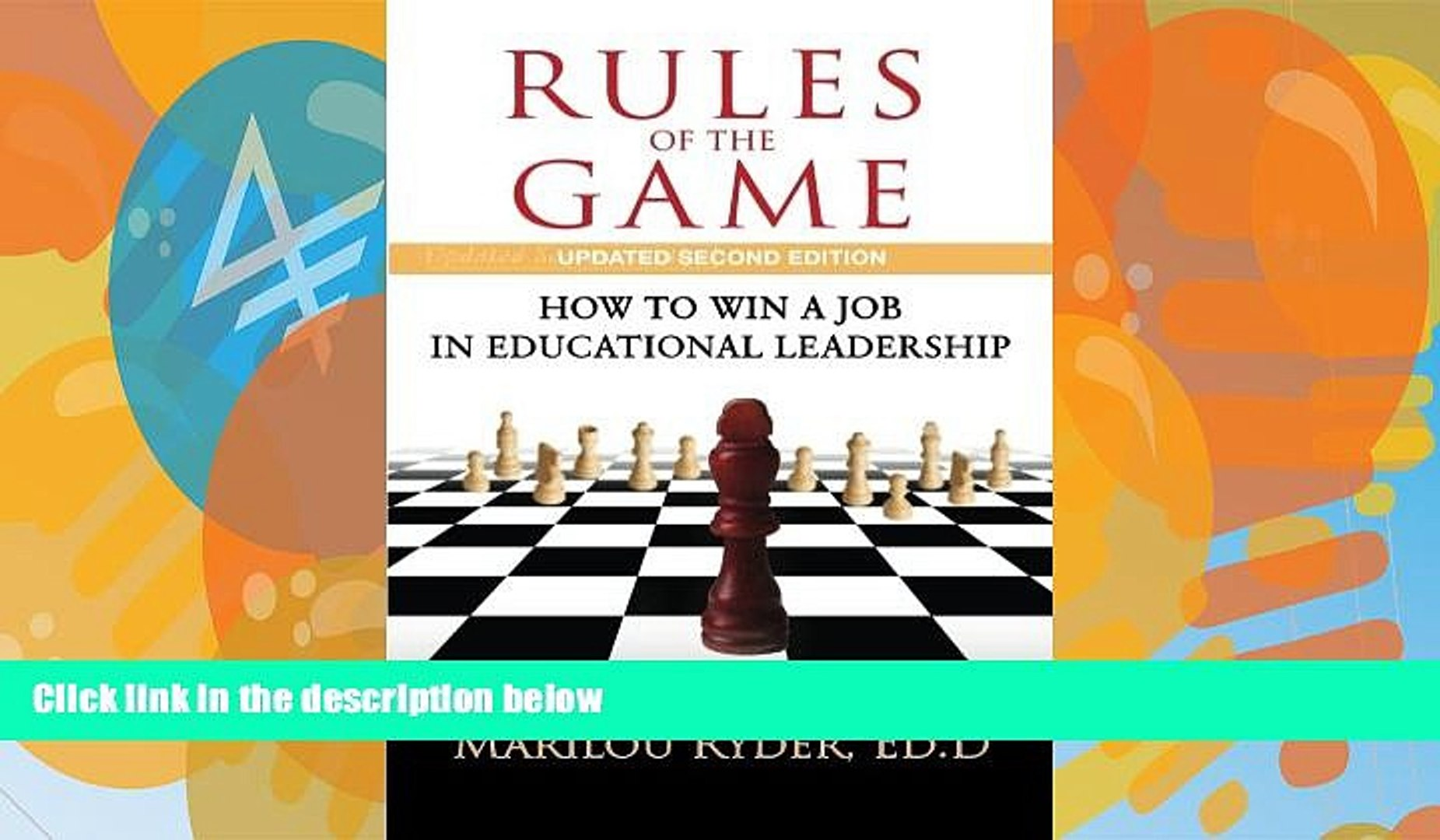 Buy NOW  Rules of the Game: How to Win a Job in Educational Leadership  Premium Ebooks Online Ebooks