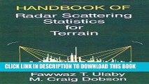[READ] Ebook Handbook of Radar Scattering Statistics for Terrain (Artech House Remote Sensing