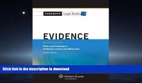 READ  Casenote Legal Briefs: Evidence Keyed to Park and Friedman, 12th Edition (with Evidence