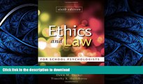 READ  Ethics and Law for School Psychologists FULL ONLINE