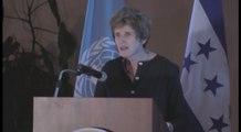 Proteger DDHH insta Comisionada adjunta de ONU en inauguración de oficina en Honduras