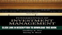 [FREE] Ebook Fundamentals of Investment Management (McGraw-Hill/Irwin series in finance,