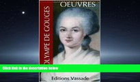 READ book  Olympe de Gouges : Oeuvres (French Edition) Olympe de Gouges  FREE BOOOK ONLINE