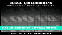 [FREE] Download Jesse Livermore s Methods of Trading in Stocks PDF Kindle