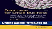 MOBI Databases for Small Business: Essentials of Database Management, Data Analysis, and Staff