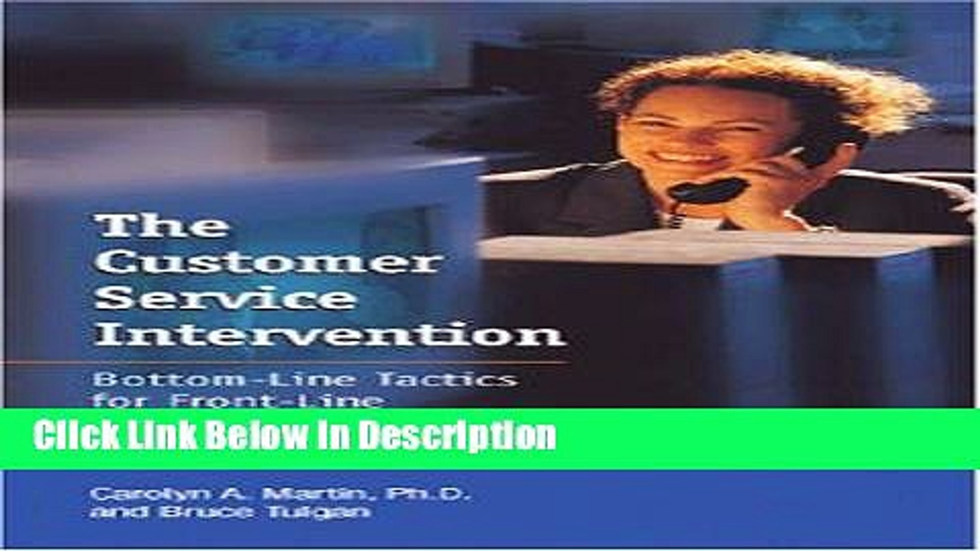 [Download] The Customer Service Intervention: Bottom-line Tactics for Front-line Managers [Read]