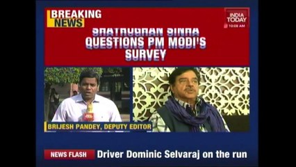 Shatrughan Sinha Slams PM Modi s Demonetization Survey