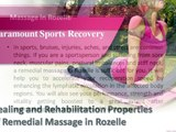 Healing and Rehabilitation Properties of Remedial Massage in Rozelle