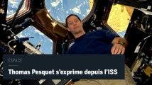 L'astronaute Thomas Pesquet donne une conférence de presse depuis l'epace